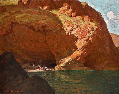 - Rendevous Santa Cruz Island  by Edgar Payne   Giclee Canvas Print Repro