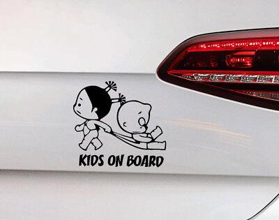 Baby on Board Auto Aufkleber Tocher und Sohn Baby Kinder Kids Sticker