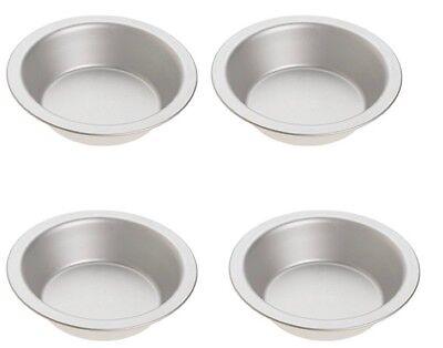 Norpro Nonstick Tin Pie Pan-Set of 4 - For Pie, Tart, Quiche, Shortcake, Custard