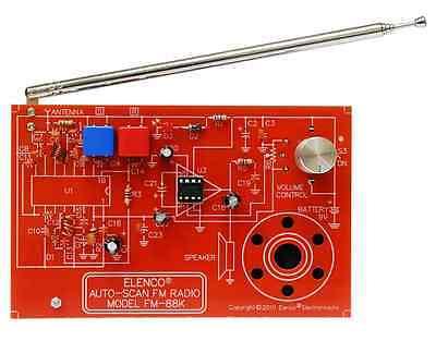 ELENCO FM-88K FM AUTO SCAN RADIO KIT soldering version