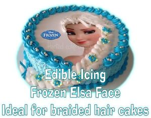 Edible-FROZEN-Elsa-Braid-Face-Braided-Hair-Cakes-Icing-Topper-LEFT ...