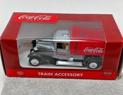 Coca-Cola Brand Train Accessory Die-Cast #K-94527 Gray / Red Delivery Truck