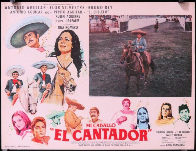 L381 MI CABALLO EL CANTADOR, Mexican Lobby Card, Antonio Aguilar, Flor Silvestre