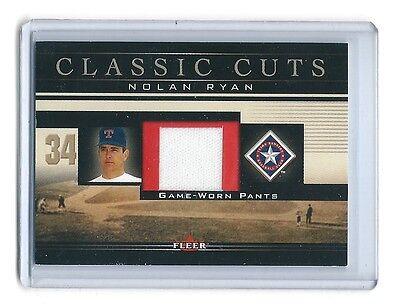 2002 Fleer Classic Cuts Nolan Ryan NR-P Pants BV 40  - $23.93
