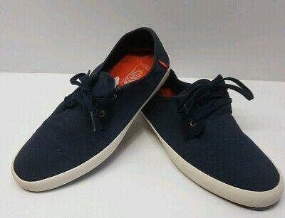 VANS Off The Wall Men Sz 9.5 Original Classic Navy Blue Sneakers Skate