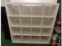 White KALLAX shelving unit IKEA in excellent conditon