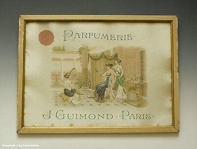 Eingerahmte Reklame PARFUMERIE J-GUIMOND PARIS um 1910 !?