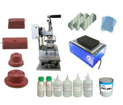 Full Set Pad Printing Kit Manual Operated Logos Diy For Penballcup 011887