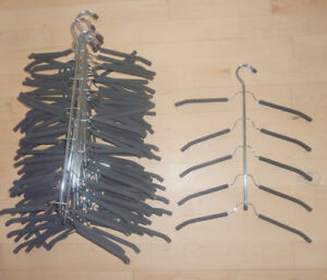 17 space saving hangers $ 2 ea or all for $ 25!