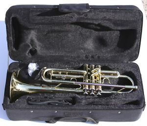 Brand new Trumpet with silver-plated mouthpiece & wooden case