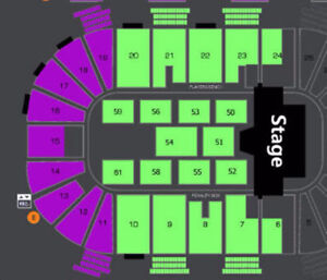WICKED HEDLEY / SHAWN HOOK FRONT FLOOR SEATS FOR SALE !!!