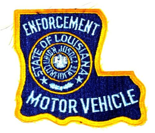 LOUISIANA – MOTOR VEHICLE ENFORCEMENT – LA Sheriff Police Patch STATE SHAPE