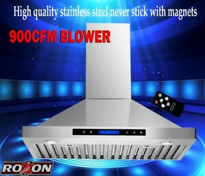 900CFM POWERFUL WALL MOUNT RANGE HOOD  KITCHEN FAN WITH REMOTE
