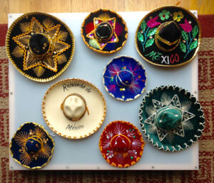 Mini Mexican Sombrero Collection 8 Hand Made