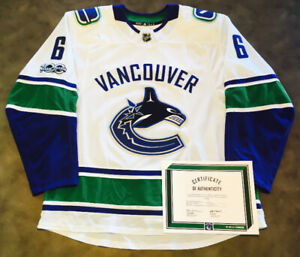 07ccb97f816 Brock Boeser Vancouver Canucks Game Worn Rookie Jersey