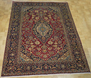 17356-Kashan Hand-Knotted/Handmade Persian Rug/Carpet Traditiona