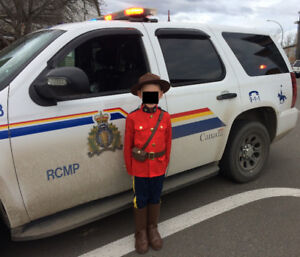 Child's RCMP Halloween costume