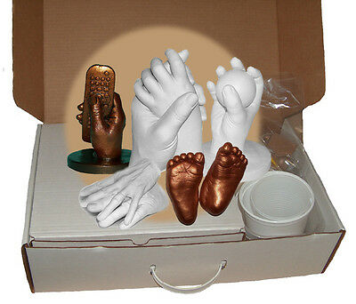Luna Bean PARTY PACK STARTER LIFE MOLDING CASTING & KIT Infant Child Hands Foot