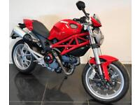 2009 09 DUCATI M 1100 MONSTER RED PROJECT TRADE SALE 13K CAT N REPAIRED RIDEABLE