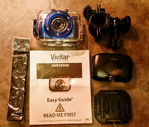 Vivitar DVR785HD-BLU Pro Waterproof Action Camcorder with Case