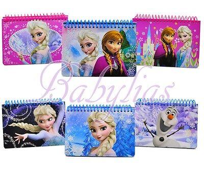 Disney Frozen Elsa Anna Olaf Spiral Autograph Book Notebook