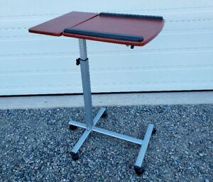 Tilt-top Split Overbed Table