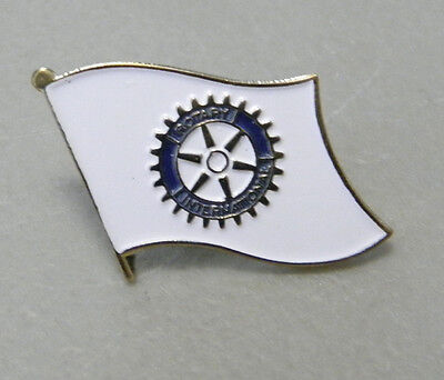 ROTARY FLAG LAPEL PIN 1 inch