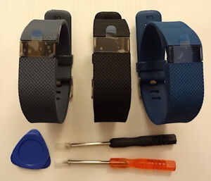 NEW REPLACEMENT SILICONE WATCH STRAP & TOOL FOR FITBIT CHARGE HR