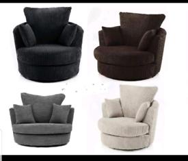 Dylan jumbo grey swivle chair