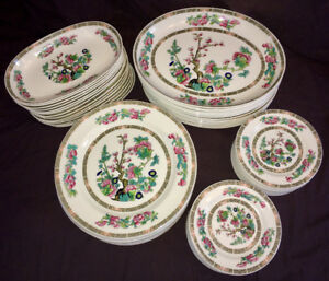 Wedgwood Metalized Bone China serves 14