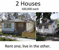 Private sale by owner. Two 3 bedroom houses 1 lot. $100,000 each