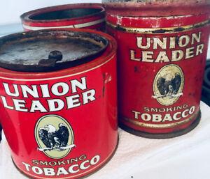 Antique tins - decorative vintage tobacco cans