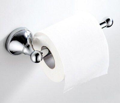 Simple Round Bathroom Accessories Toilet Paper Holder Chrome Mirror Brass Copper