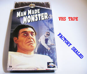 New  sealed Man made Monster VHS cassette tape movie NOS classic