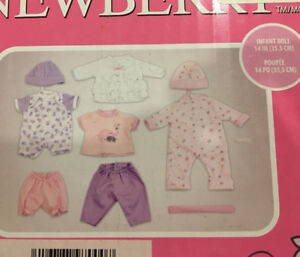 "NEWBERRY CLOTHING SET FOR 14"" DOLLS BRAND NEW"
