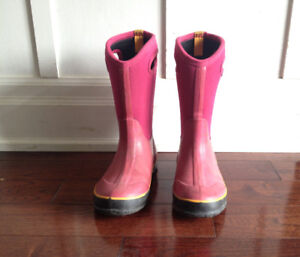 Washable Rain Winter Bogs Boots Size 4 Youth or ~5.5 Women