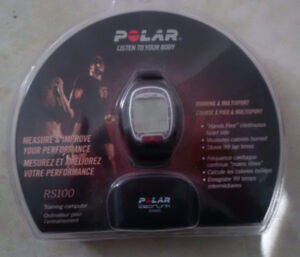 The Polar RS100 heart rate monitor watch