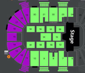 GREAT HEDLEY / SHAWN HOOK FRONT FLOOR TICKETS !!!