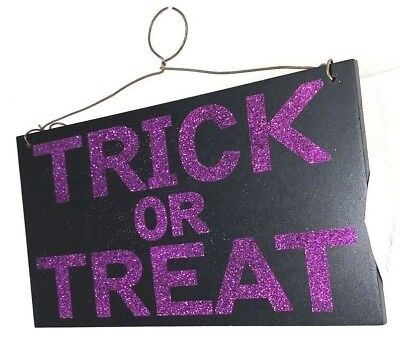 Halloween Decorations Inside Outside New Trick Or Treat Front Or Back Door Sign