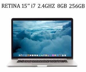 MACBOOK PRO RETINA 15 i7 2.4 GHZ 8GB 256GB Nvidia GT650m +Office Pro 2016,MASTER SUITE DE ADOBE,LOGIC PRO