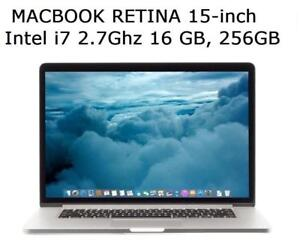 MACBOOK PRO RETINA 15 i7 2.7GHZ 16GB 256GB +Office 2016,MASTER SUITE DE ADOBE, Logic Pro X