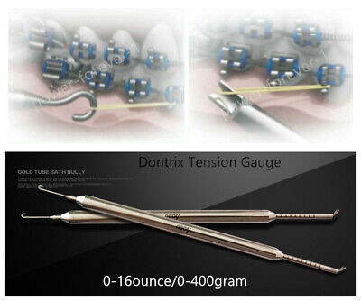 Dental Orthodontic Dontrix Stress Tension Force Gauge Dynamometer 0-400g 16ounce
