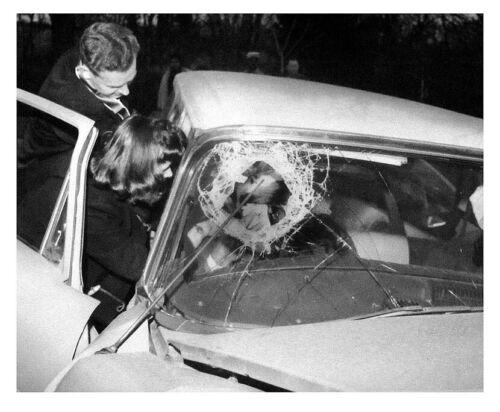 1962 Levittown Safety Glass Car Crash Photo