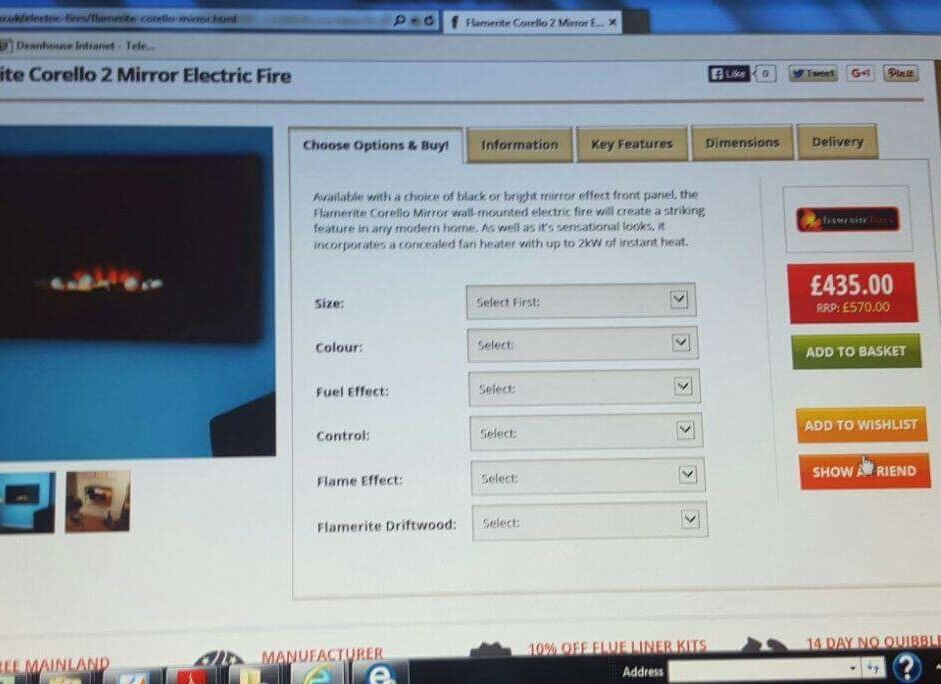 Electric Fire excellant condition
