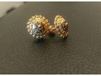 22ct Indian gold earrings with meenakari
