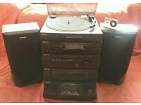 Sony Hi Fi System w/ Record Player turntable, 5 x CD player, Casette & Radio