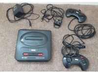 Sega Mega Drive 2, 2 x Controllers, Cables & Adapter, Working Order
