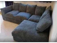 ✔GREAT DEAL✔NEW BYRON JUMBO CORD CORNER & 3+2 SOFA IN STOCK✔CASH-ON-DELIVERY✔
