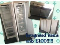 tall freezers integrated PAT tested and includes warranty