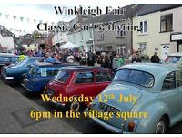 Classic car night as part of Winkleigh Fair Week **MID DEVON**